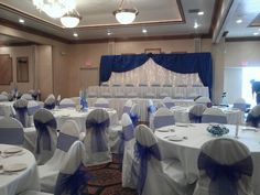 Cobalt & White Wedding Decor