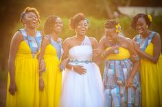 African bridesmaids dresses...lovely