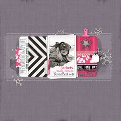 A layout by me using some fun readymade journalers!