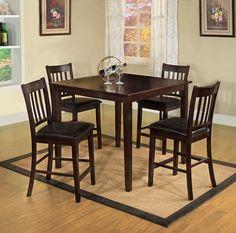 Mesa con 4 bancos capuccino