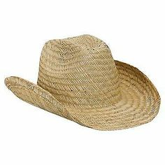 c6dd1b11 Natural straw cowboy hat with pre-curved brim, fabric sweatband. Fitted  sizes: and Hat Band sold separately.