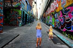 Taking a walk down Hosier Lane and admiring the street art is one of the most popular things to do in Melbourne.