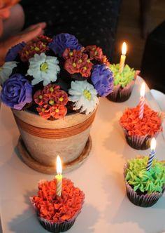 Cupcake Flower Pot Cake
