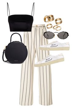 """""""Untitled #23575"""" by florencia95 ❤ liked on Polyvore featuring Erika Cavallini Semi-Couture, Mansur Gavriel, Yves Saint Laurent, Apt. 9 and Jean-Paul Gaultier"""