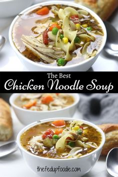 This Chicken Noodle Soup recipe is classic comfort food. It is perfect for feeling warm and cozy all over!