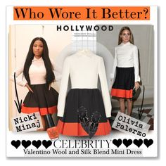 """Who Wore It Better: Nicki Minaj or Olivia Palermo #2247"" by gaburrus ❤ liked on Polyvore featuring Nicki Minaj, Valentino, OPI, WhoWoreItBetter, OliviaPalermo, NickiMinaj and CelebrityStyle"