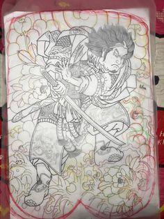 Japanese Tattoo Art, Japanese Art, Tattoo Samurai, Full Chest Tattoos, Back Piece Tattoo, Japanese Warrior, Traditional Japanese Tattoos, Japan Tattoo, Back Pieces