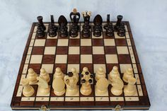 Wooden Handmade Chess Set by FriendsOfForest on Etsy