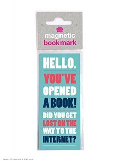 From 1.99 Hello Magnetic Bookmark