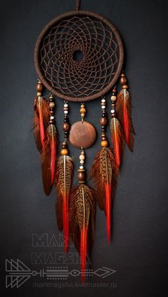 Beautiful dreamcatcher in red tones