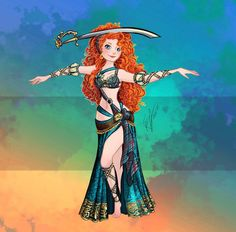 Merida as a belly da