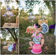 I love how this Alice in Onederland theme turned out. Bexley's mom Ashley of Polkadotologie did an amazing job on her outfits and the props. She put so much time and detail in to it all and it was worth it. These photos are just too cute for words! Happy 1st Birthday Bexley!