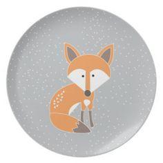 Little Fox Dinner Plates