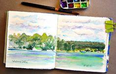 watercolor sketchbook journal page