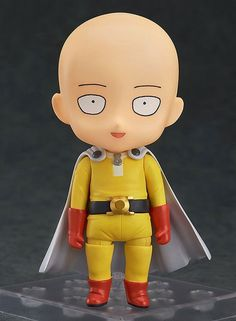 DESCRIPTION Super Cute One Punch Man - Saitama Nendoroid! High-quality (painted) one punch man figure with accessory parts and stand included. Extra facial expressions and funny grocery bag parts incl