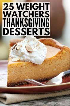 Weight Watchers Thanksgiving Dessert Recipes | These Weight Watchers Thanksgiving dessert recipes with points have everything you need to indulge without ruining your diet and weight loss goals. From mouth-watering 2-Ingredient Pumpkin Brownies to an out-of-this-world Low Fat Pumpkin Cheesecake, smartpoints have never tasted so good. #weightwatchers #weightwatchersrecipes #weightwatchersdesserts #WW #WWrecipes #thanksgiving #thanksgivingrecipes #dessert #dessertrecipes #weightloss #diet
