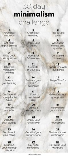 30 Day Minimalism Challenge....my self challenge!! Who's in?!
