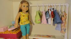 Clothes Rack for American Girl Dolls Using PVC Pipes | Free Sewing Pattern for American Girl Dolls