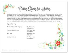 Signs of Spring! Download this Family Faith reflection and activity to share with the children and families in your catechetical program.    #Catechist #Faith #Catholic #Catholics