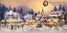 Thomas Kinkade Christmas Scene