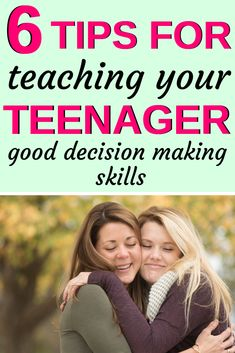 All teenagers need to learn better decision-making skills. And if you're parenting a teen, then you might need some tips for helping them make the right choices in life. So here are 6 tips for teaching your kids better decision making skills. Raising Teenagers, Parenting Teenagers, Parenting Classes, Single Parenting, Kids And Parenting, Parenting Hacks, Parenting Quotes, Troubled Teens, Coping Skills