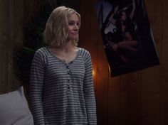 Eleanor Shellstrop's Grey Striped Henley on The Good Place