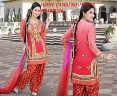 punjabi suit design patterns for tailoring - Google Search