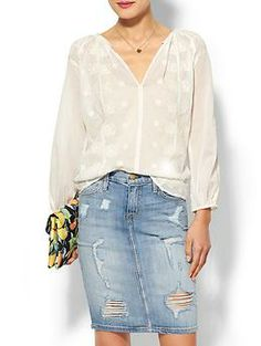 love this top, but wrong beige for me Velvet by Graham & Spencer Linda Top | Piperlime