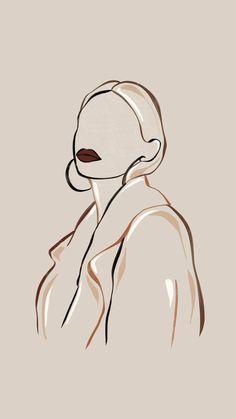 @tessadehaan27 Grafic Art, Abstract Face Art, Outline Art, Outline Drawings, Art Drawings Sketches, Pretty Drawings, Minimalist Art, Aesthetic Art, Aesthetic Drawing