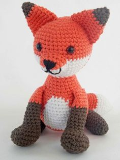 Crochetville 2015 Designer Blog Tour | Featured Designer Ida Herter | Pattern: Fredrick the Fox Amigurumi Crochet Toy | #natcromo