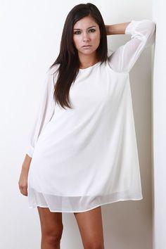 Cute white dress $32.50