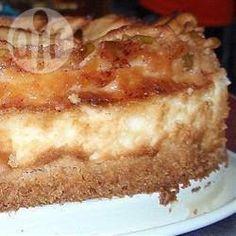 Яблочно-творожный пирог со штрейзелем
