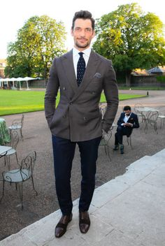 David Gandy attends the Founders Forums 2017 at Kensington Palace on June 14 2017 in London England Mens Fashion Suits, Mens Suits, David Gandy Style, Famous Male Models, Suit Combinations, Man Dressing Style, Business Casual Outfits, Well Dressed Men, Gentleman Style