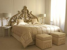 Aztec Versace Home, love the bedding and night lamps
