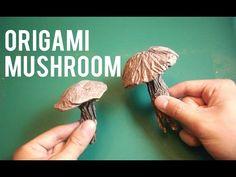 How to fold an easy origami mushroom - YouTube