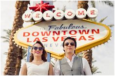 Vintage Downtown Las Vegas Wedding - By Brilliant Imagery Photography - Welcome to Fabulous Downtown Las Vegas sign