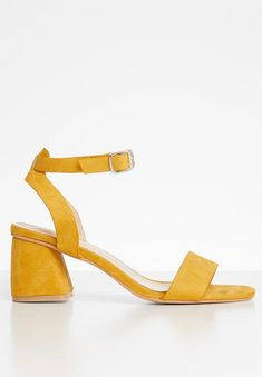 Melissa block heel - yellow Superbalist Heels | Superbalist.com Block Heels, Open Toe, Ankle Strap, Two By Two, Footwear, Sandals, Yellow, How To Wear, Shoes