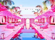 Pretty pink pool!