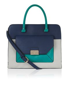Perfect for smarter styling thanks to its boxy silhouette, our Innes handheld bag will help you master the colour-blocking trend. With rolled handles and a d...