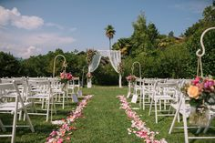 Boho chic ceremony Lake Orta Italy by Il Pavone Bianco Wedding & Event Planner Ph. Credit Camilla Anchisi