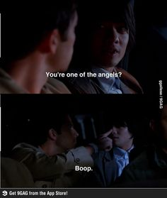 He really does say boop. And I really did laugh until I cried. lmao<<< What Satan dose to people.