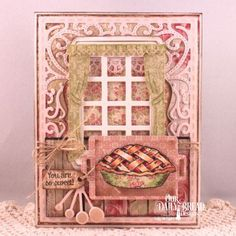 Our Daily Bread Designs Stamp Sets: Homemade Pie, Our Daily Bread Designs Paper Collection: Blushing Rose, Our Daily Bread Designs Custom Dies: Baking Tools, Vintage Flourished Pattern, Welcoming Window,  Window, Mini Tags