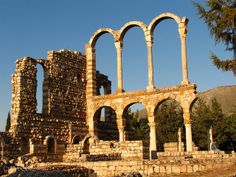 LEBANON, BEKAA VALLEY, ANJAR'S OMAYYAD RUINS…THE ONLY ONES IN THE COUNTRY