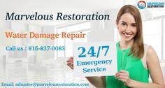We provide #WaterDamageRepair service in kansas city. Call us 24 hours at 816-837-0083.