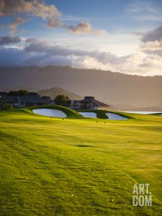 Makai Golf Course, Kauai, Hawaii, USA Photographic Print by Micah Wright at Art.com