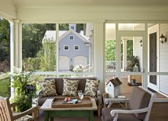 Traditional Porch screened in wraparound porch Design Ideas, Pictures, Remodel and Decor