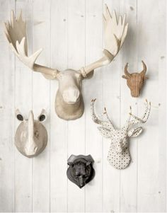 erin ever after: Vegan Friendly Taxidermy  For your office.  @Angela Culpepper