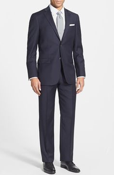 $790 in Grey - Hart Schaffner Marx 'New York' Classic Fit Wool Suit available at #Nordstrom