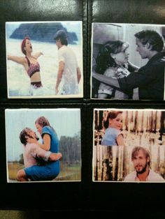 The Notebook Movie coasters  Bonus Gift Just by GorgeousGlassware, $10.00