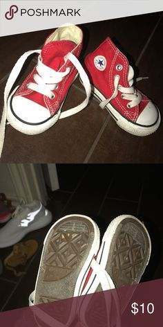 3220990fd8e824 Shop Kids  Converse Red size Sneakers at a discounted price at Poshmark.